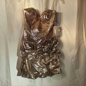 Beyond Division of Jovani Gold Sequin Dress